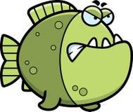 Angry Cartoon Piranha Royalty Free Stock Photos