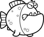 Angry Cartoon Piranha Royalty Free Stock Photography