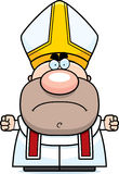 Angry Cartoon Pope Royalty Free Stock Photography