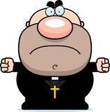 Angry Cartoon Priest Stock Photography
