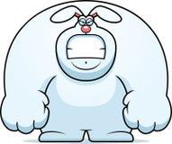 Angry Cartoon Rabbit Stock Image