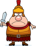 Angry Cartoon Roman Centurion Stock Photography