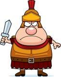 Angry Cartoon Roman Centurion. A cartoon illustration of a Roman Centurion looking angry Stock Photography