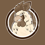 Angry Cartoon Rooster Icon Royalty Free Stock Images