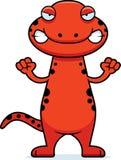 Angry Cartoon Salamander Royalty Free Stock Photography