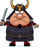 Angry Cartoon Samurai Stock Image
