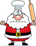 Angry Cartoon Santa Claus Chef Stock Photo