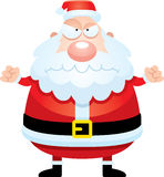 Angry Cartoon Santa Claus Royalty Free Stock Photos