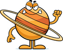 Angry Cartoon Saturn Stock Images