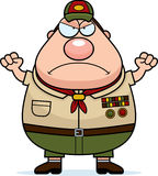 Angry Cartoon Scoutmaster Stock Images
