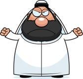 Angry Cartoon Sheikh Royalty Free Stock Photos
