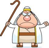 Angry Cartoon Shepherd Stock Photography