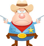 Angry Cartoon Sheriff Stock Photography