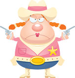 Angry Cartoon Sheriff Royalty Free Stock Photo