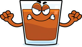 Angry Cartoon Shot Glass Royalty Free Stock Image