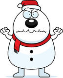 Angry Cartoon Snowman Santa Stock Image