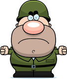 Angry Cartoon Soldier Royalty Free Stock Images