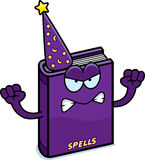 Angry Cartoon Spell Book Royalty Free Stock Photography