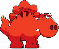 Angry Cartoon Stegosaurus Royalty Free Stock Images