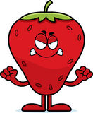 Angry Cartoon Strawberry Royalty Free Stock Photography