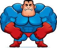 Angry Cartoon Superhero Royalty Free Stock Photos