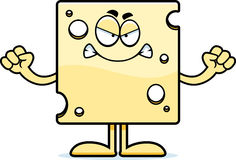 Angry Cartoon Swiss Cheese Royalty Free Stock Photography