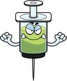 Angry Cartoon Syringe Royalty Free Stock Image