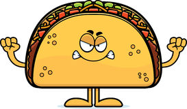Angry Cartoon Taco Royalty Free Stock Photography
