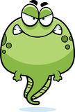 Angry Cartoon Tadpole. A cartoon illustration of a tadpole looking angry Royalty Free Stock Photo