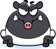 Angry Cartoon Tapir Royalty Free Stock Photo