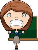 Angry Cartoon Teacher Stock Images