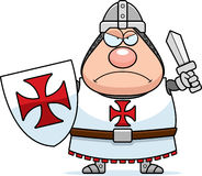 Angry Cartoon Templar Stock Photography