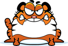 Angry Cartoon Tiger Stock Image