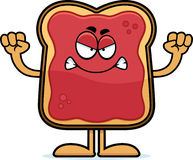 Angry Cartoon Toast With Jam Royalty Free Stock Image