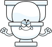 Angry Cartoon Toilet Stock Photography