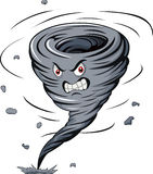 Angry cartoon tornado Stock Photo