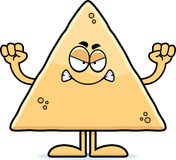 Angry Cartoon Tortilla Chip Stock Images