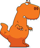 Angry Cartoon Tyrannosaurus Rex Royalty Free Stock Photos