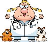 Angry Cartoon Veterinarian Royalty Free Stock Images