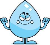 Angry Cartoon Water Drop Royalty Free Stock Photos