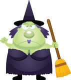 Angry Cartoon Witch. A cartoon illustration of a witch looking angry Royalty Free Stock Photo