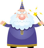 Angry Cartoon Wizard Stock Image