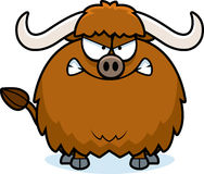 Angry Cartoon Yak Stock Image