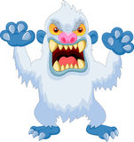 Angry cartoon yeti Stock Photo