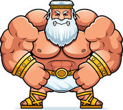 Angry Cartoon Zeus Stock Images