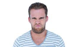 Angry casual man looking at camera Royalty Free Stock Photo