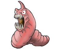 Angry Caterpillar Cartoon  Royalty Free Stock Photo
