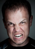 Angry caucasian man Stock Photography