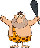 Angry Caveman Cartoon Character Holding A Club Royalty Free Stock Photography
