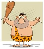 Angry Caveman Cartoon Character Holding A Club Stock Images